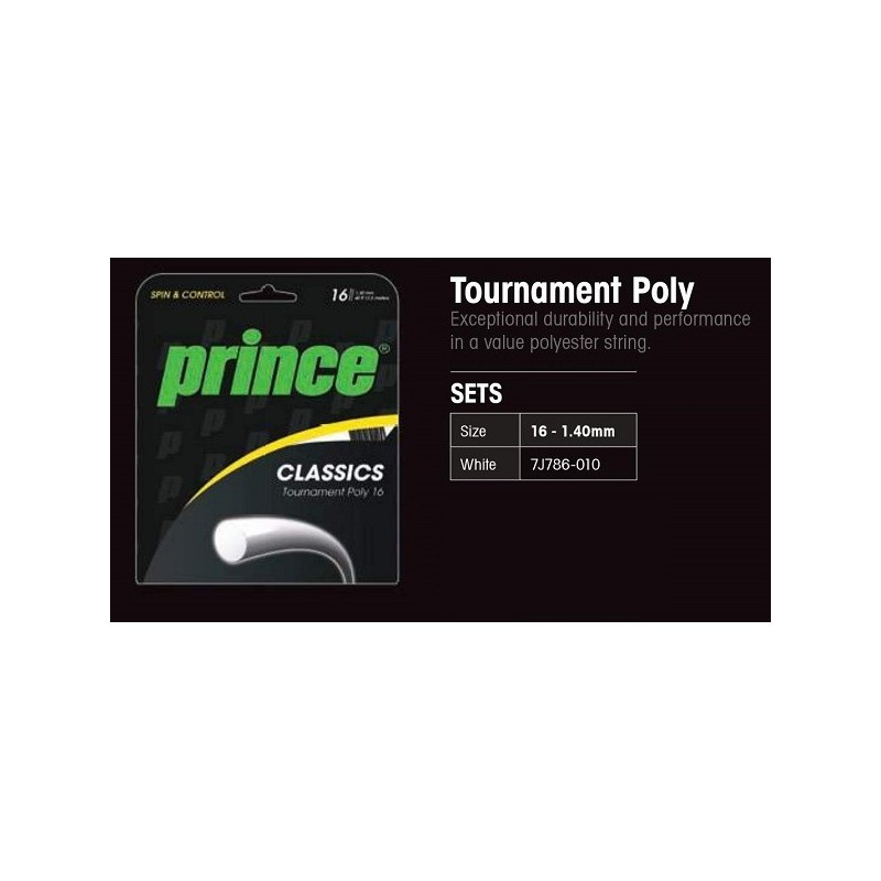 CUERDA TENIS TOURNAMENT POLY PRINCE