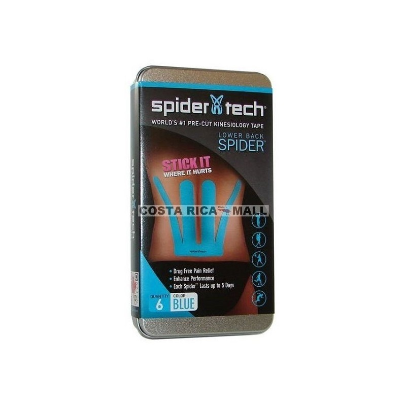 LOWER BACK KINESIOTAPE SPIDETECH